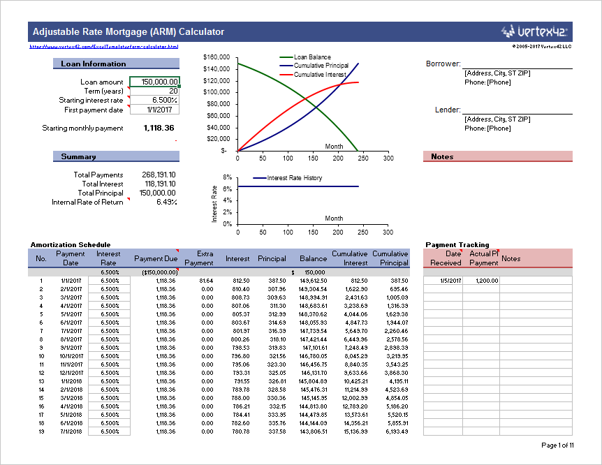 arm calculator free adjustable rate mortgage calculator for excel