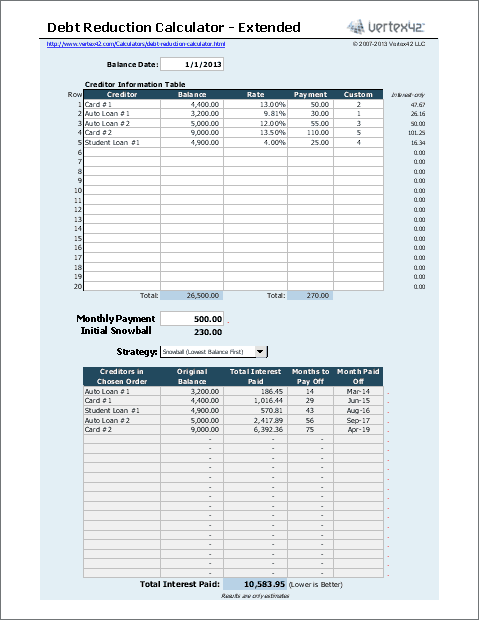 Debt Snowball Worksheet {Free Printable}
