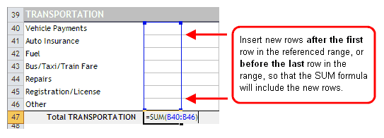 Inserting Rows within a Range