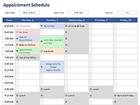 Appointment Schedule Template  Meeting Schedule Template