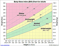 Printable BMI charts and tables in PDF and XLS format. Use the chart ...