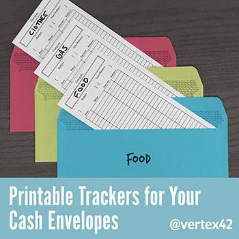 Cash Envelope System - Printable Register Inserts