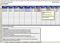 Business templates small business spreadsheets and forms other business templates crm spreadsheet wajeb Choice Image