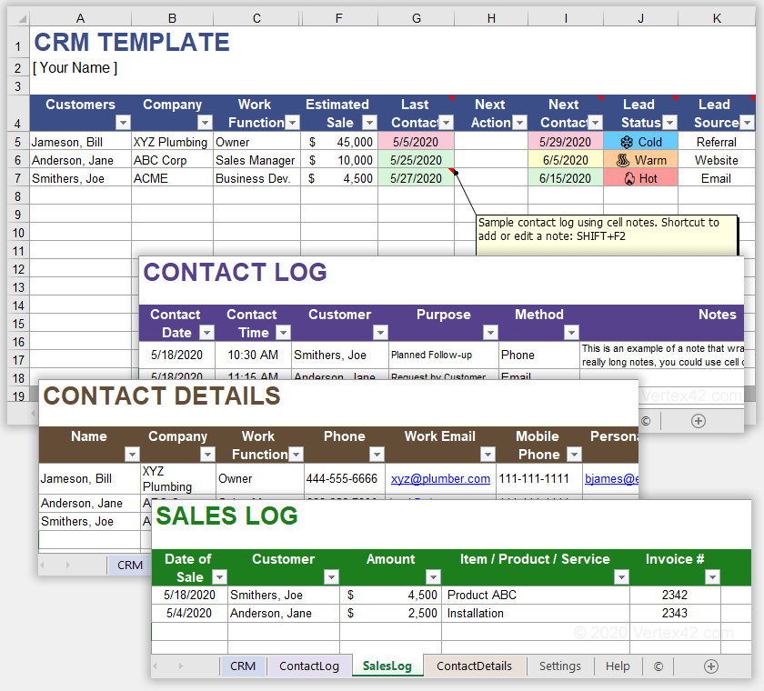 CRM Spreadsheet