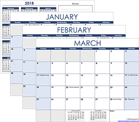Full-Year Calendar Templates