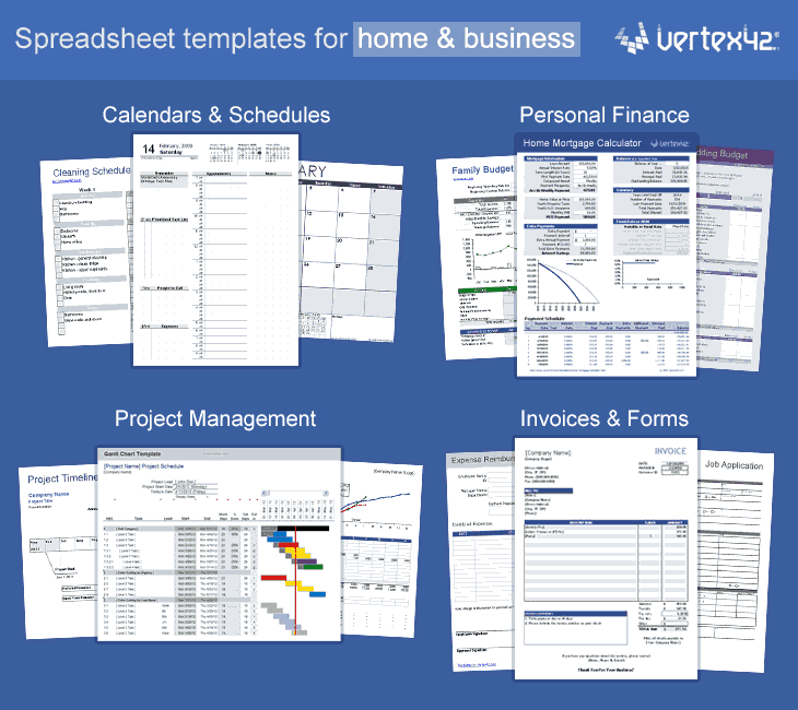 Free Excel Templates and Spreadsheets – Sample Spreadsheet Templates
