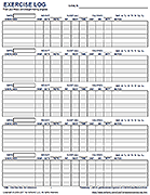 free printable exercise log and blank exercise log template