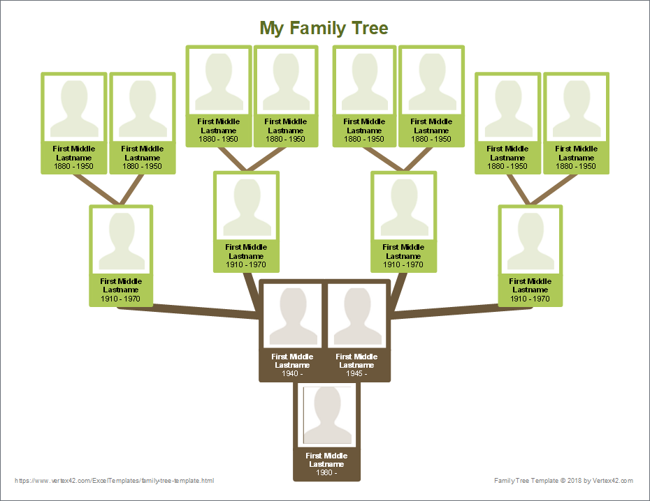 family tree template with photos