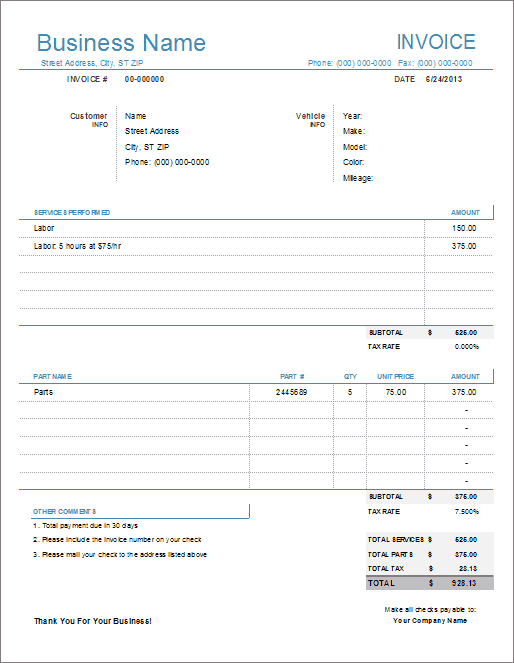 Amatospizzaus  Splendid Auto Repair Invoice Template For Excel With Heavenly Light Version With Extraordinary Google Read Receipt Also Sample Cash Receipt In Addition Acknowledge The Receipt And Receipt Printer Software As Well As Where Can I Get A Receipt Book Additionally Receipt Tracking Software From Vertexcom With Amatospizzaus  Heavenly Auto Repair Invoice Template For Excel With Extraordinary Light Version And Splendid Google Read Receipt Also Sample Cash Receipt In Addition Acknowledge The Receipt From Vertexcom