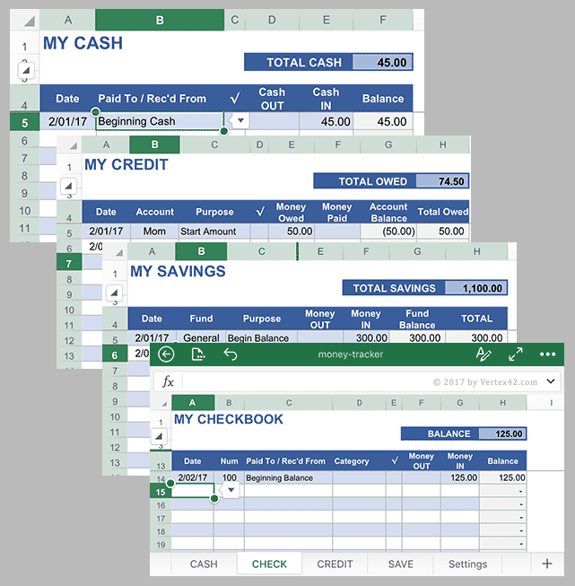 Money Tracker for Excel