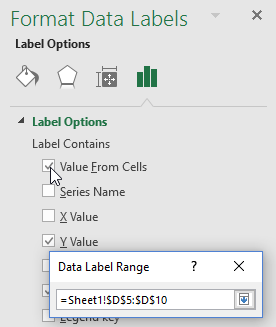 Choose Data Label Range