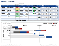 Free gantt chart template for excel task list with gantt chart ccuart Image collections