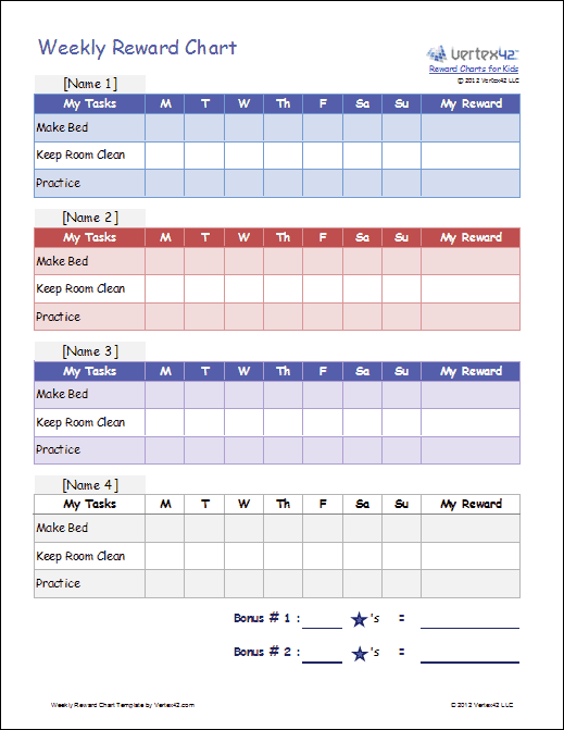 Daily Behavior Chart Template : New Calendar Template Site