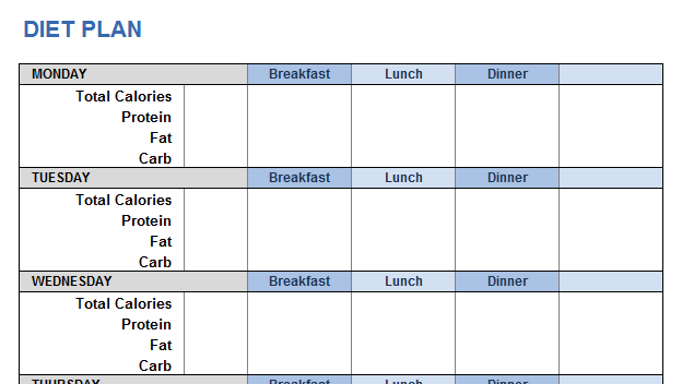 Weight training plan template for excel weight training diet plan maxwellsz