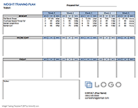 Weight Training Plan Template
