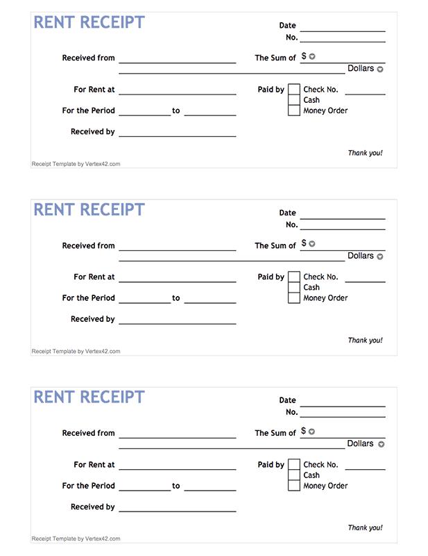 Rent Receipt Form