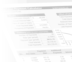 Watermark - Auto Loan Calculator