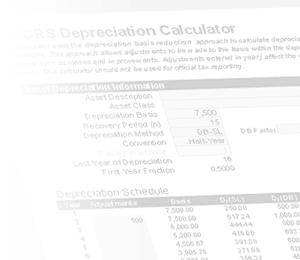 straight line depreciation schedule template