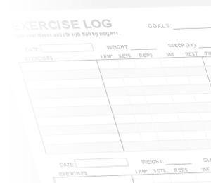 printable workout log template .