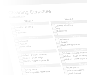 house cleaning  house cleaning excel to do list template