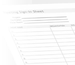 Watermark sign in sheet