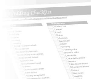 Watermark - Wedding Checklist