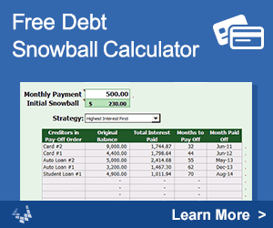 debt snowball calculator by vertex42com