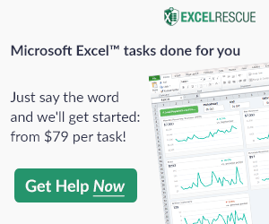 ExcelRescue - A Vertex42-Approved Excel Consultant