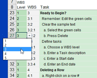 WBS Numbering in Version 4.0