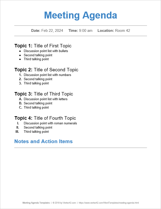 school team meeting agenda template.html