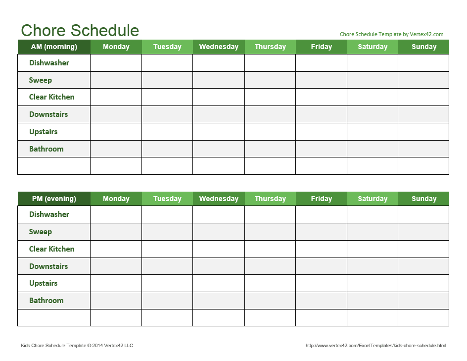 Chore Schedule
