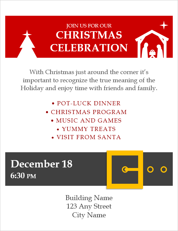 Christmas Flyer Template for Word