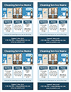 Cleaning Service Flyer Template - 4 Per Page