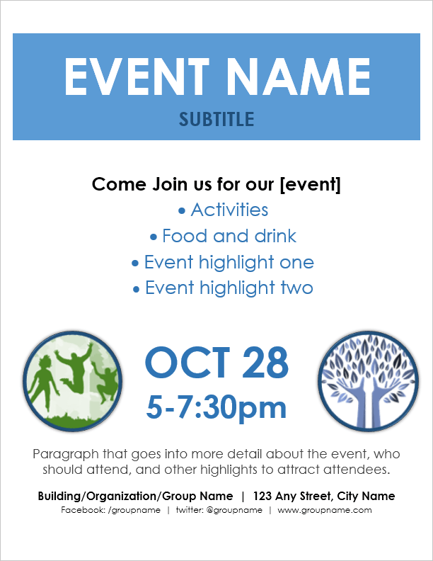 Event flyer template for word for Free flyer templates for microsoft word