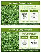 Lawn Care Flyer Template - 2 Per Page