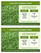 Lawn Care Flyer Template - 2 Per Page