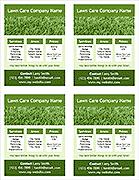 Lawn Care Flyer Template - 4 Per Page