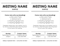 Meeting Flyer - 2- Per Page