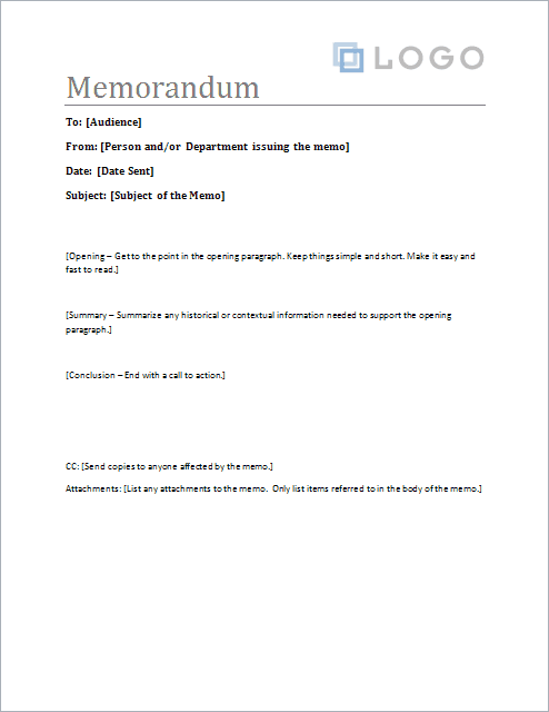 Free Memorandum Template Sample Memo Letter – Agenda Samples in Word