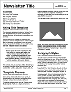Newsletter Template - Ink Friendly