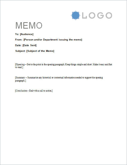 Free Memorandum Template Sample Memo Letter – Memo Templates for Word
