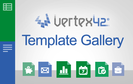 Template gallery add on for google sheets and docs for Templates by vertex42 com