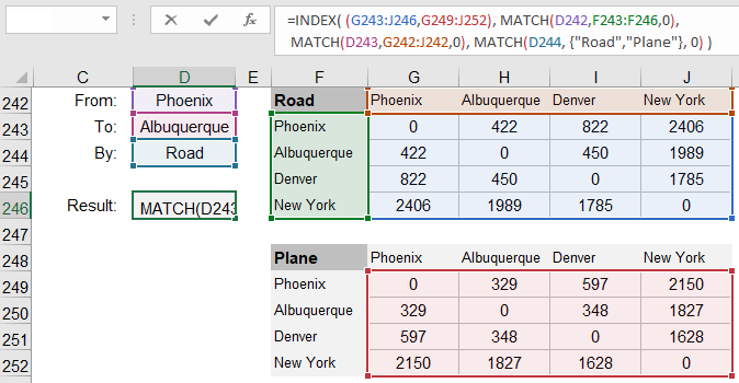 3D Lookup Using INDEX-MATCH