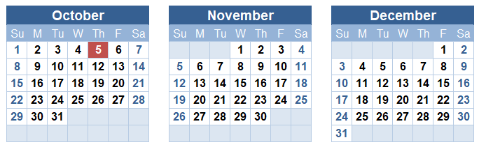 Highlighting TODAY in a Calendar Using Conditional Formatting