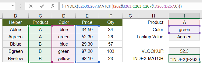 INDEX-MATCH with Multiple Criteria