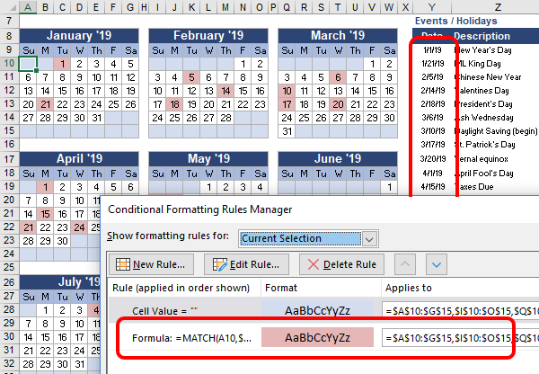 Conditional Formatting Based on a Range of Dates