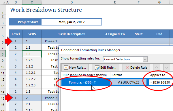 How to Highlight an Entire Row Based on One Cell