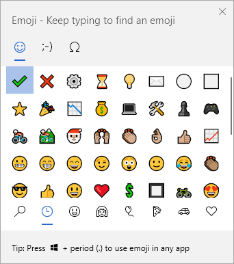 Emoji Keyboard Windows 10