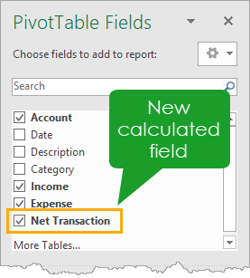 New Calculated Field