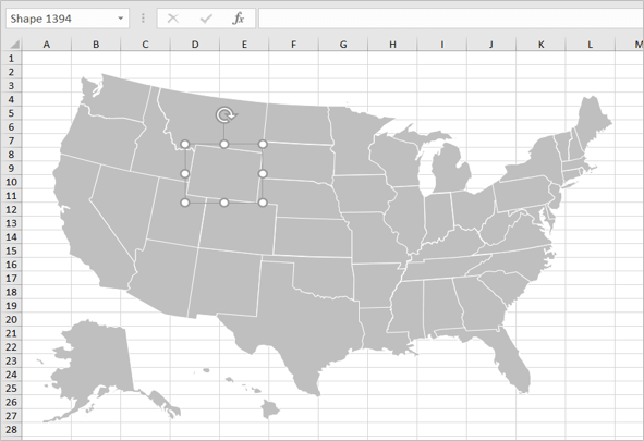 Separate Shapes for USA States